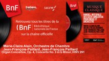 Marie-Claire Alain, Orchestre de Chambr - Organ Concertos, Op. 4, Concerto No. 3 in G Minor, HWV 291