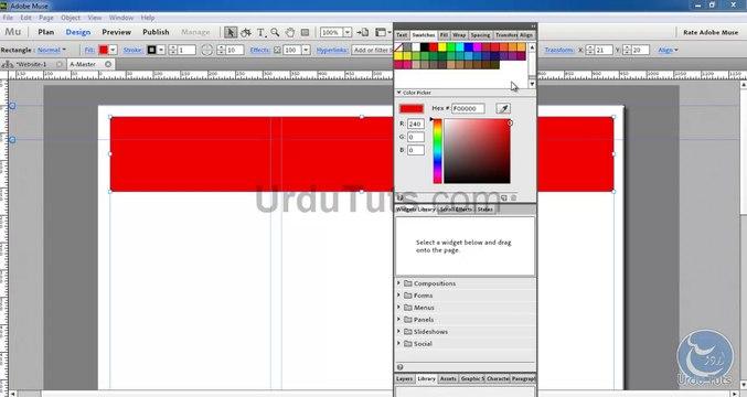 Adobe Muse CC Interface Urdu Tutorial