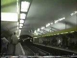 metro ligne 13 et ligne 1 paris 1991