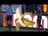 Dani Alves eats banana thrown by racist fan, support for Alves goes viral