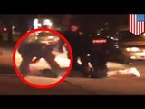 Police brutality caught on camera: Buffalo suspect beat by cops after traffic stop drug bust