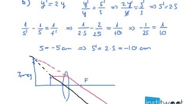Calcula la posición donde debe colocarse el objeto si la imagen debe se real e invertida