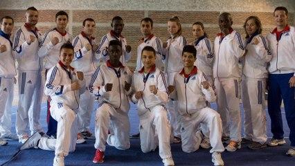 La sélection SANDA de l'équipe de France de Wushu au Championnat d'Europe 2014