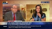 L'Éco du soir: Les jours fériés ne nuiront pas à la croissance française en 2014 - 30/04