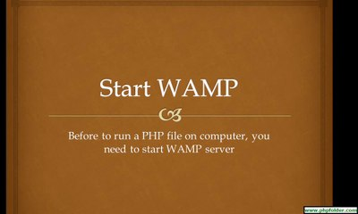 How to start WAMP Server