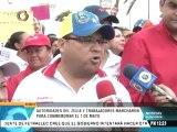 Trabajadores oficialistas marcharon en Zulia con Arias Cárdenas