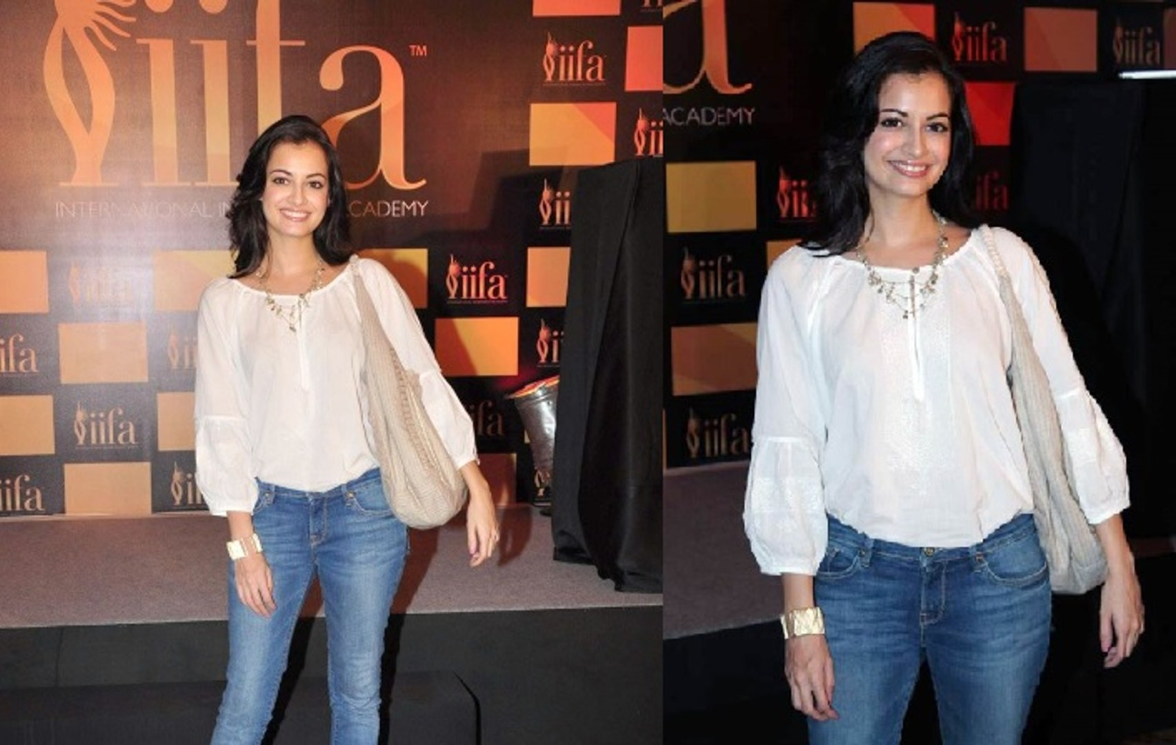 Bollywood Hot Babe Dia Mirza Looks Cute Sweet & gorgeous at IIFA 2012 Voting Weekend