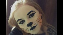 Cute Cat Face Paint _ Make-up Tutorial Design - Easy Guide - Children's Face Painting Tutorial