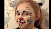 Easy Cat Face Paint _ Make-up Tutorial Design - Easy Guide - Children's Face Painting Tutorial