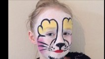 Easy Easter Bunny Face Paint _ Make-up Tutorial - Easy Guide - Children's Face Painting Tutorial
