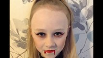 Easy Vampire Face Paint _ Make-up Tutorial Design - Easy Guide - Children's Face Painting Tutorial