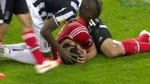 Garay kicked in the face and bleeding - Paul Pogba Bicycle kick - Juventus vs Benfica 01-05-2014