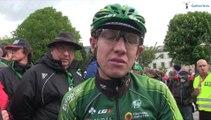Cyril Gauthier à l'arrivée de la 3e étape du Tour de Romandie 2014