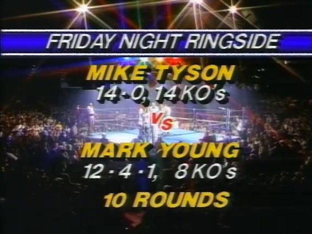 Mike Tyson vs Mark Young 1985-12-27 full fight