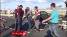 Kayseri'de trafik kazası: 2 ölü, 1 yaralı