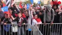 Rennes Guingamp Esplanade De Gaulle. la soupe à la grimace des supporters rennais