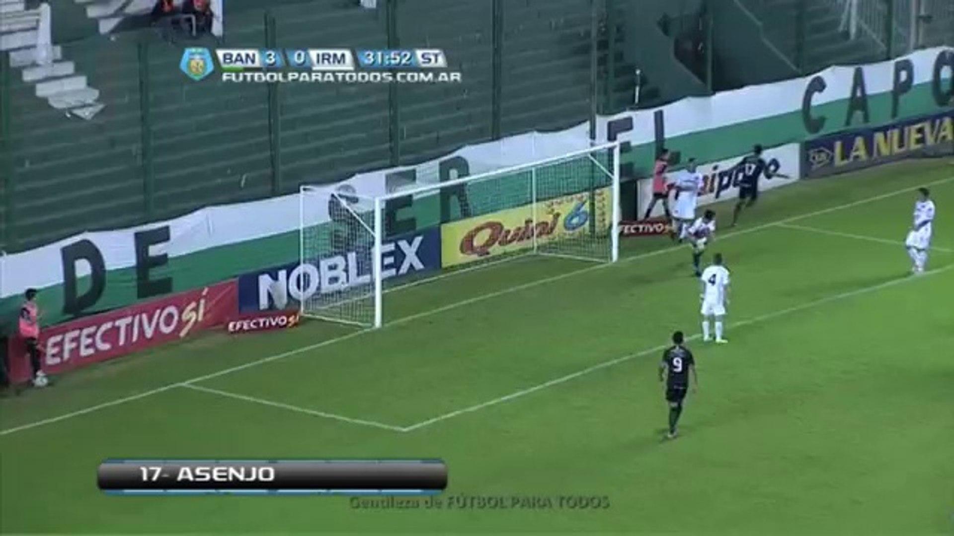 Gol de Asenjo.Banfield 4 Independiente RM 0.Fecha 36.Torneo Primera B Nacional.Fútbol Para Todos