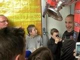 Coupe de France: les joueurs de Guingamp acclamés à l'aéroport de St Brieuc - 04/05