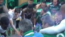 La joie des Verts après ASSE 2-0 Montpellier