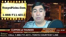 Oklahoma City Thunder vs. LA Clippers Pick Prediction NBA Pro Basketball Playoffs Game 1 Odds Preview 5-5-2014