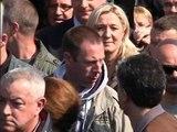 En campagne pour les Européennes, Marine Le Pen chahutée à Sotteville-lès-Rouen - 04/05