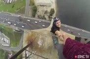 Cascadeur sans filet, frissons de l'extrême au sommet de buildings... Fou!