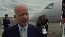 William Hague voices support for Ukraine