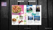 Revue de mode online, avec 3D et des effets de changement de page réalistes sur
