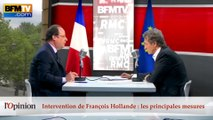 "60"" : Intervention de François Hollande, les principales mesures"