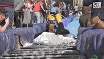 Angleterre: Transformer une rue en toboggan géant