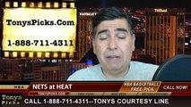 Miami Heat vs. Brooklyn Nets Miami Heat Pick Prediction NBA Pro Basketball Playoffs Game 1 Odds Preview 5-6-2014
