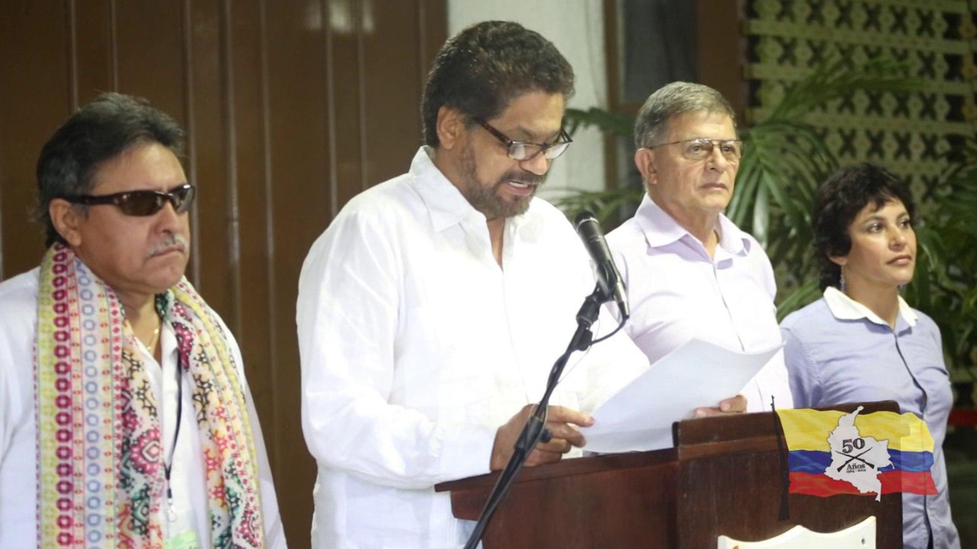 2014,   mayo    04,   Rueda de prensa de la Delegación de Paz FARC-EP al finalizar el 24 ciclo de co