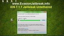 Evasion iOS 7.1.1 JAILBREAK for iPhone 4S, iPad 3, iPod touch, iPhone 4/4S/5/5s/5c