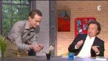Stéphane Bern effrayé par un insecte sur France 2
