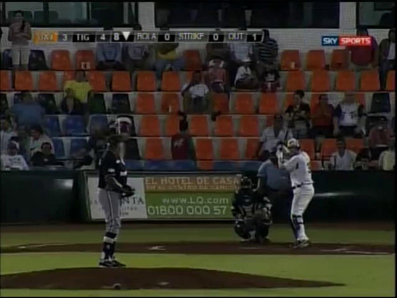 Home Run de Sergio Contreras de Tigres de Quintana Roo (12-04-2014)