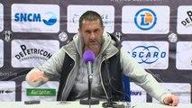 Conférence de presse CA Bastia - Clermont Foot (1-1) : Stéphane ROSSI (CAB) - Régis BROUARD (CF63) - 2013/2014