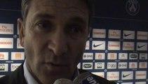 Réaction de Philippe Montanier après la victoire de Rennes face au PSG (1-2) Journée 36 de Ligue 1