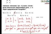 Matris ve determinant örnek soru çözümleri