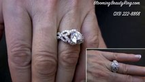 wedding ring 18k White Gold Designer Micropave Engagement Ring Setting 5