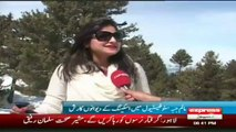 womens day for skiing in malam jabba snow festival 2014 by sherin zada