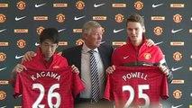 Sir Alex Ferguson holds press conference for Shinji Kagawa and Nick Powell