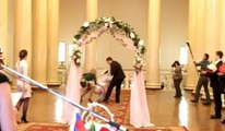 S Wedding Dress Falls Off Fail Video Dailymotion