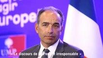 """Copé : """"le discours de Le Pen est irresponsable"""""""