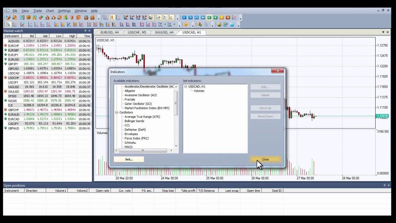 Forex Volume Indicator – Volume Indicators – How to set on NetTradeX Trading Platform