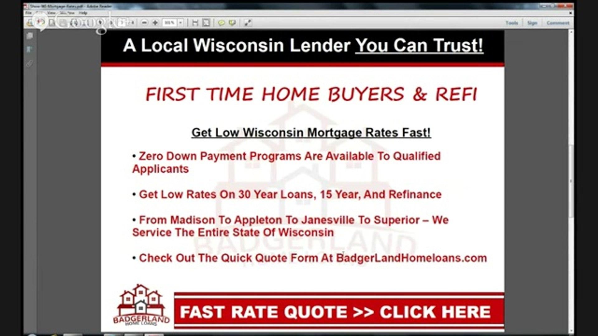 Easy WI Mortgage Calculator