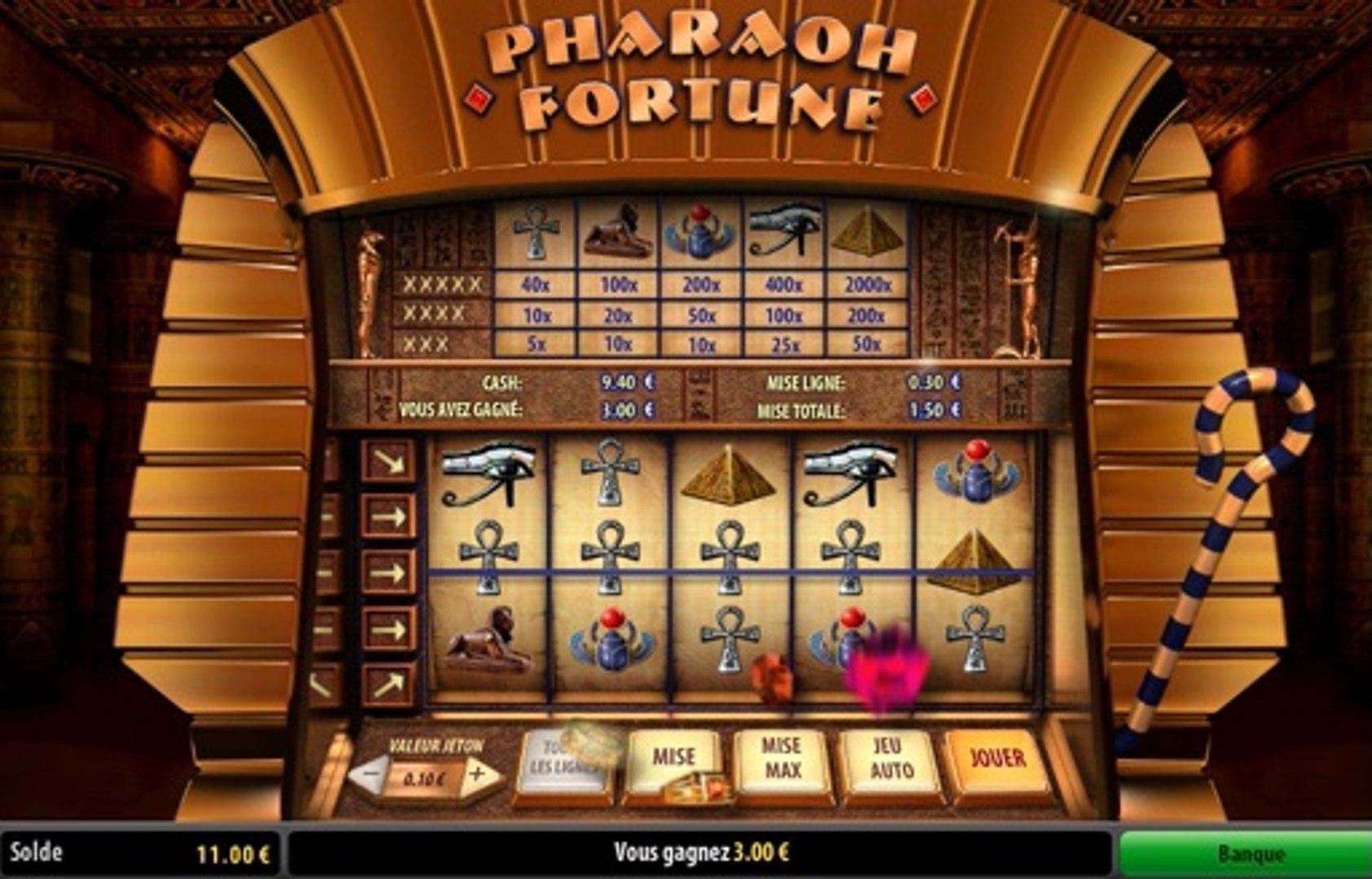 machine à sous avec gains multiples Pharaon Fortune