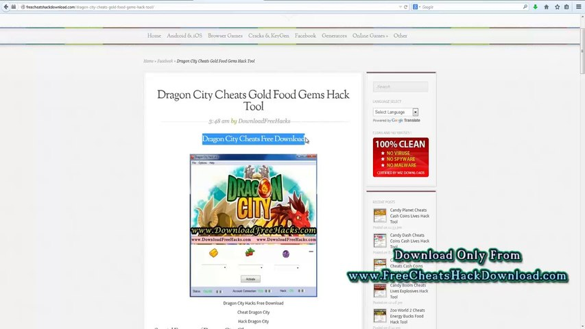 Dragon City Cheats Gold Gems Food Hack Tool 2014 Update Video Dailymotion