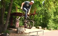 2 Insane Flat Rail Tricks Back To Back - BMX
