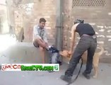 ahahaha kutta Dog Caught Man on street and Pulled Down his Pants