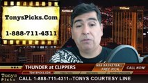 NBA Playoff Odds Game 3 LA Clippers vs. Oklahoma City Thunder Pick Prediction Preview 5-9-2014